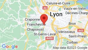 Carte de localisation du centre de contrôle technique SAINTE FOY LES LYON