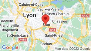 Carte de localisation du centre de contrôle technique BRON
