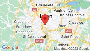 Carte de localisation du centre de contrôle technique Lyon 7