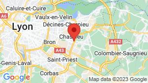 Carte de localisation du centre de contrôle technique GENAS