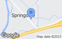 Map of Springdale, MT