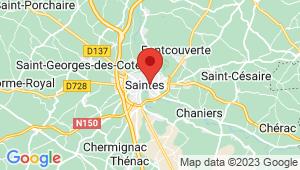 Carte de localisation du centre de contrôle technique SAINTES