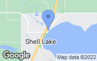 Map of Shell Lake, WI