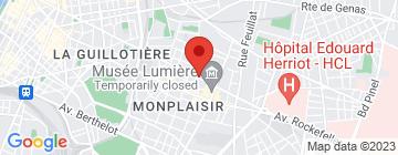 Carte  Lyon Appart Hotel - Petit Paumé