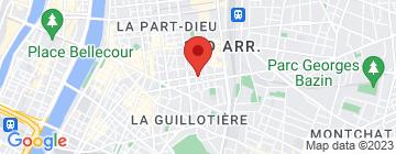 Carte Appart'City Lyon Part-Dieu Garibaldi  - Petit Paumé