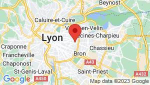 Carte de localisation du centre de contrôle technique LYON