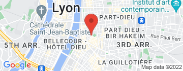 Carte Alliance Française - Cours de langue et culture française à Guillotière - Petit Paumé