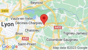 Carte de localisation du centre de contrôle technique MEYZIEU