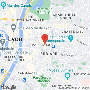 Map of Foot Locker Lyon at Gare SNCF Part Dieu, Lyon,  69003