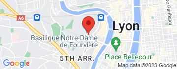 Carte Restaurant de Fourvière - Fermé - Petit Paumé