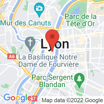 Map showing Les Cafetiers