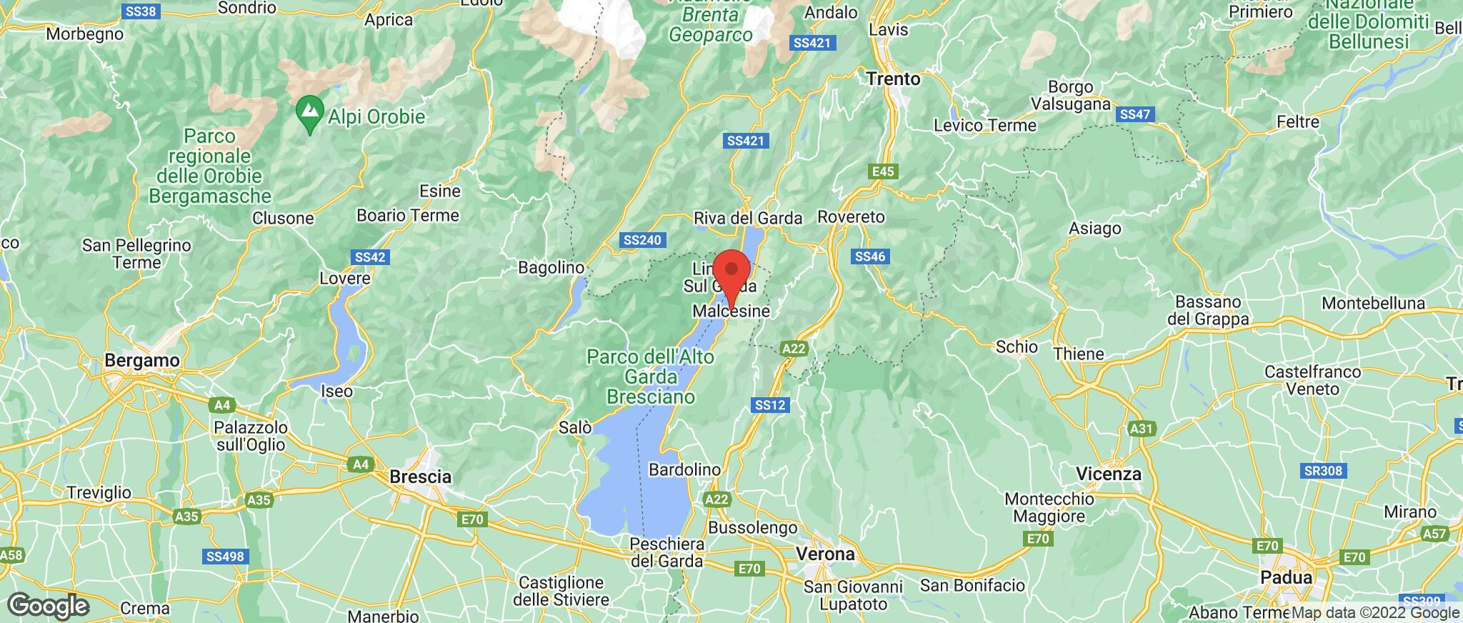 Map showing the location of Malcesine