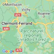 Le thème Auvergne/Massif central sur notre carte histoire-géo