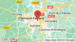 Carte de localisation du centre de contrôle technique Clermont-Ferrand