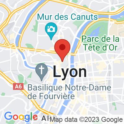 Map showing La Boîte à Café