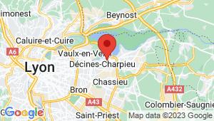 Carte de localisation du centre de contrôle technique Décines-Charpieu