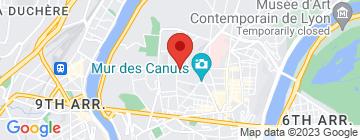 Carte Centre de pilates, Lyon Croix-Rousse - Petit Paumé