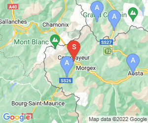 Karte für Courmayeur