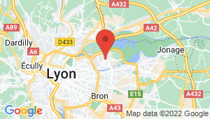 Carte de localisation du centre de contrôle technique VAULX EN VELIN