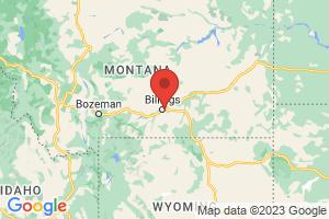 Map of Yellowstone Montana