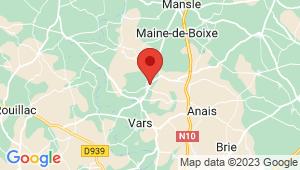Carte de localisation du centre de contrôle technique SAINT AMANT DE BOIXE