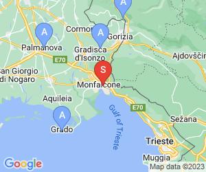 "Karte für Gruppo Speleologico Monfalconese ""Amici del Fante"""