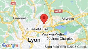 Carte de localisation du centre de contrôle technique Rillieux la Pape
