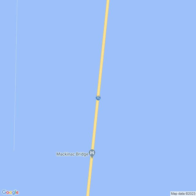 Map of Mackinac Bridge