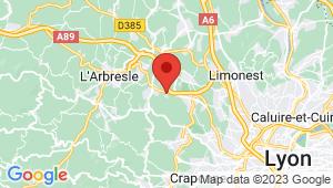 Carte de localisation du centre de contrôle technique LENTILLY