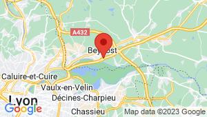 Carte de localisation du centre de contrôle technique BEYNOST