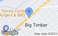Map of Big Timber, MT