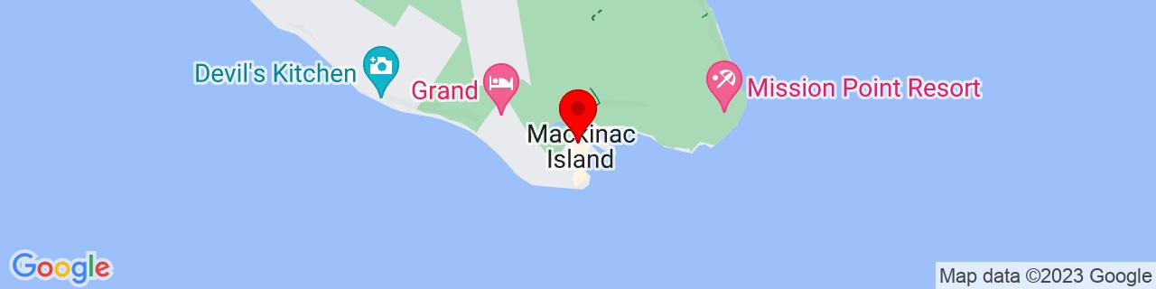 Google Map of 45.8491796, -84.6189339