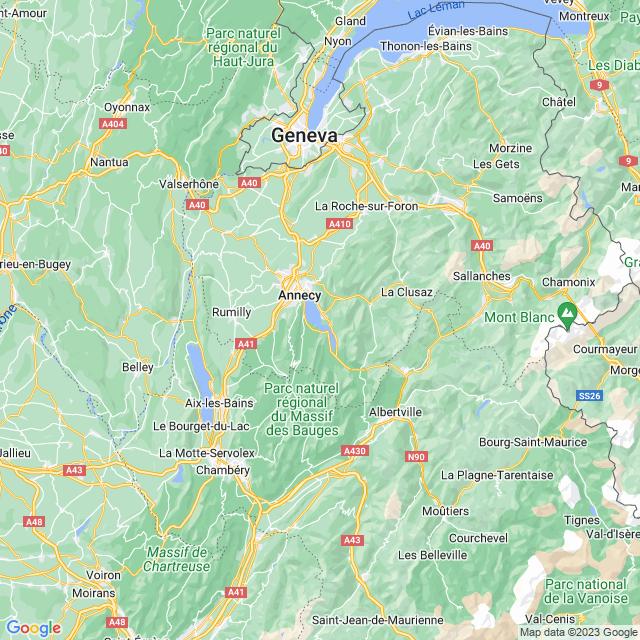 Locatie Meer van Annecy