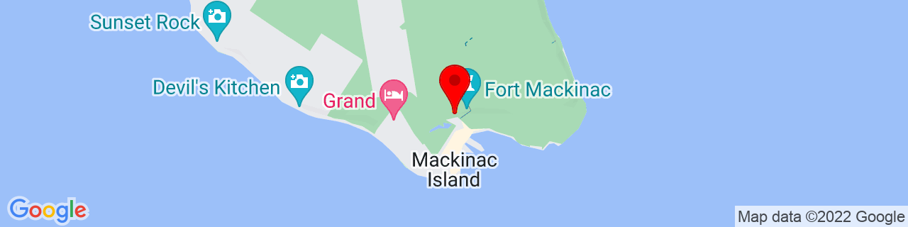 Google Map of 45.8515908, -84.61887399999999