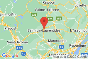 Map of Laurentides