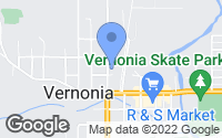 Map of Vernonia, OR