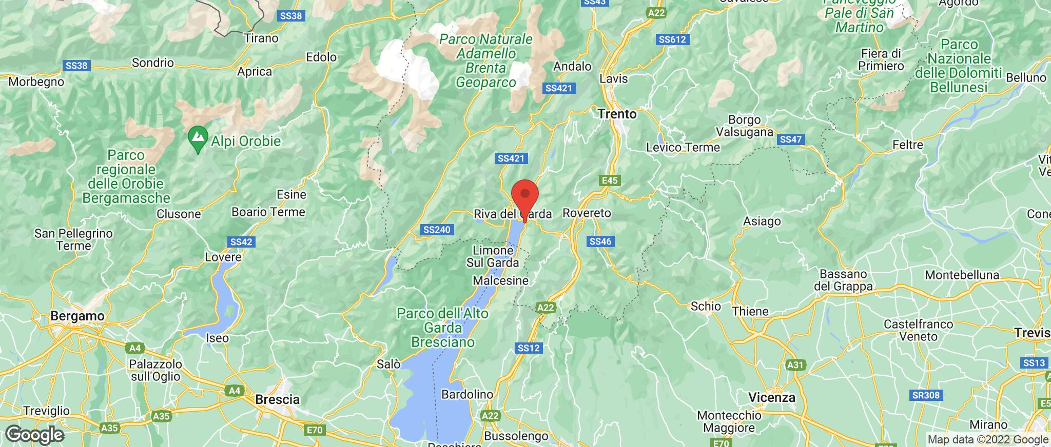 Map showing the location of Torbole
