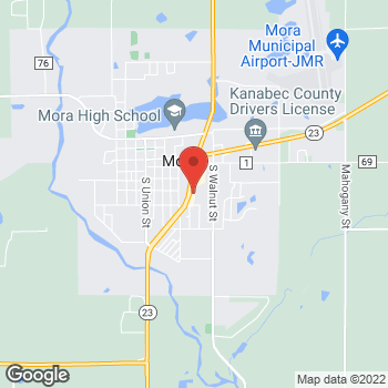 Map of Verizon Authorized Retailer - TCC at 506 Highway 65 S, Mora, MN 55051