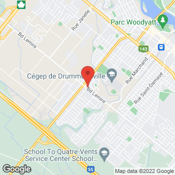 Map of Carquest Auto Parts at 1420 Blvd Lemire, Drummondville, QC J2C 5A4