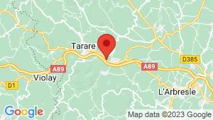Carte de localisation du centre de contrôle technique PONTCHARRA SUR TURDINE