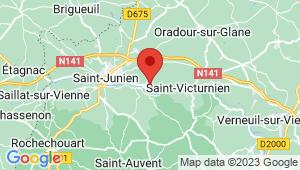 Carte de localisation du centre de contrôle technique SAINT JUNIEN