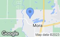 Map of Mora, MN