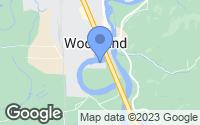 Map of Woodland, WA