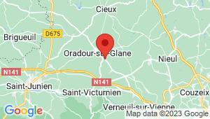 Carte de localisation du centre de contrôle technique Oradour sur Glane