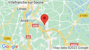 Carte de localisation du centre de contrôle technique REYRIEUX
