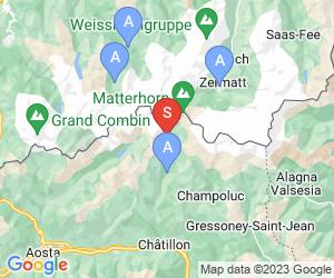Karte für Breuil Cervinia