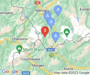 Karte für Val Ferret - La Fouly