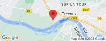 Carte Les cascades de Trévoux - Petit Paumé
