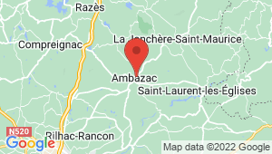 Carte de localisation du centre de contrôle technique AMBAZAC
