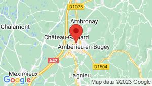 Carte de localisation du centre de contrôle technique AMBERIEU EN BUGEY